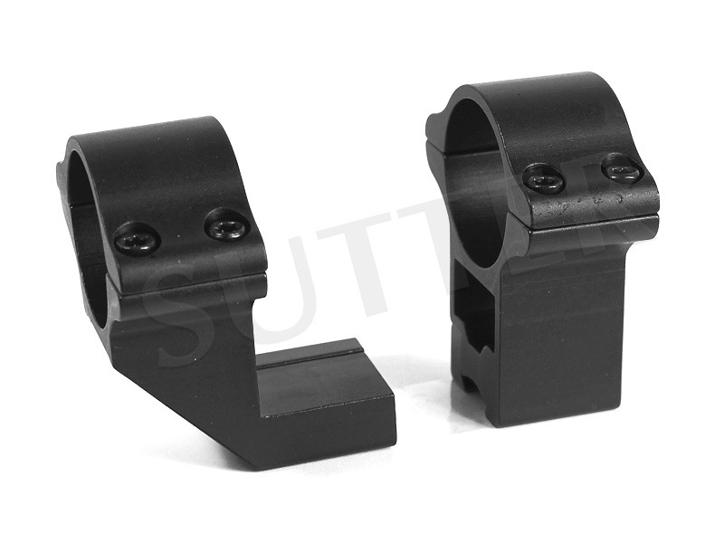 Bague de montage coudée d=25,4 h=50 très solide pour 19-21mm Weaver- et Picatinny rail