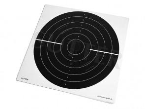 Pack de 20 cibles (noir) avec des fentes d'insertion - 55x53cm