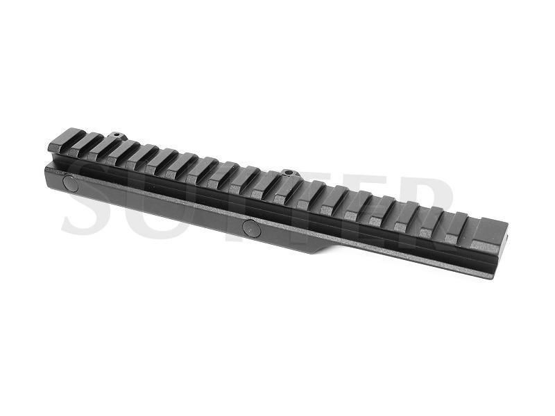 Adaptateur de hauteur coudé pour rails de montage l=205mm, 11mm sur 21mm