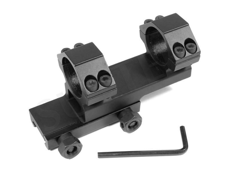 Rail de montage coudé solide pour 19-21 mm Wever- et Picatinny rail