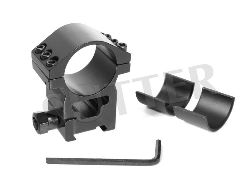 Anneau de montage très robuste - Pour rails de 11mm / 19mm - Dimension 25,4mm & 30mm
