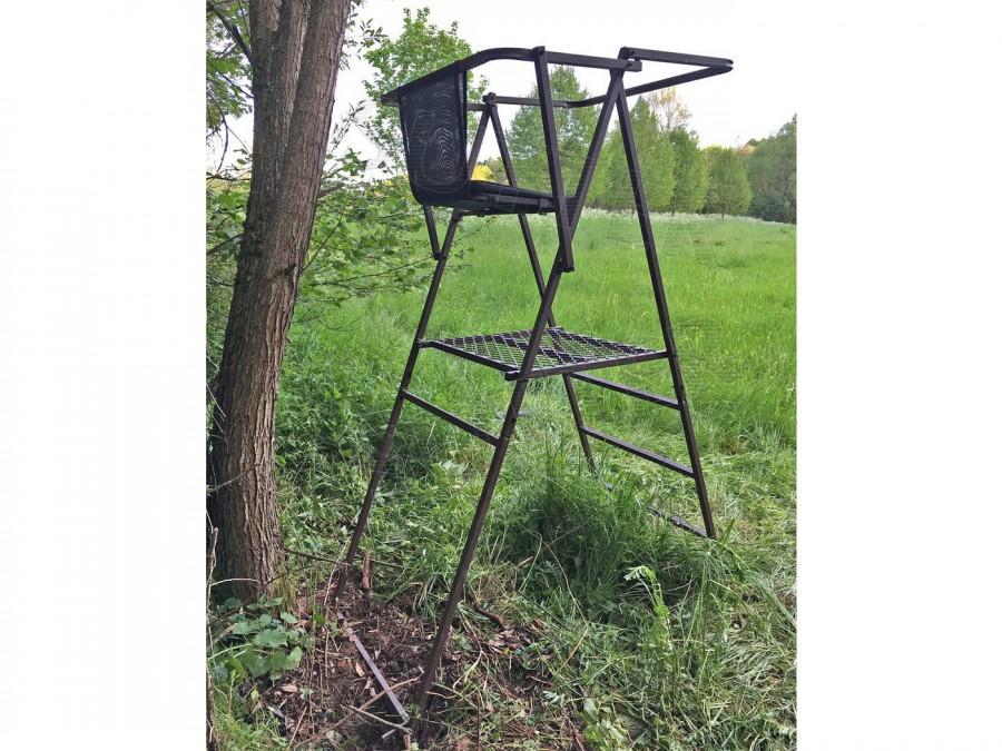 Siège / siège haut transportable, Hauteur du siège: 1,6m / Fabriqué en acier robuste / Siège haut
