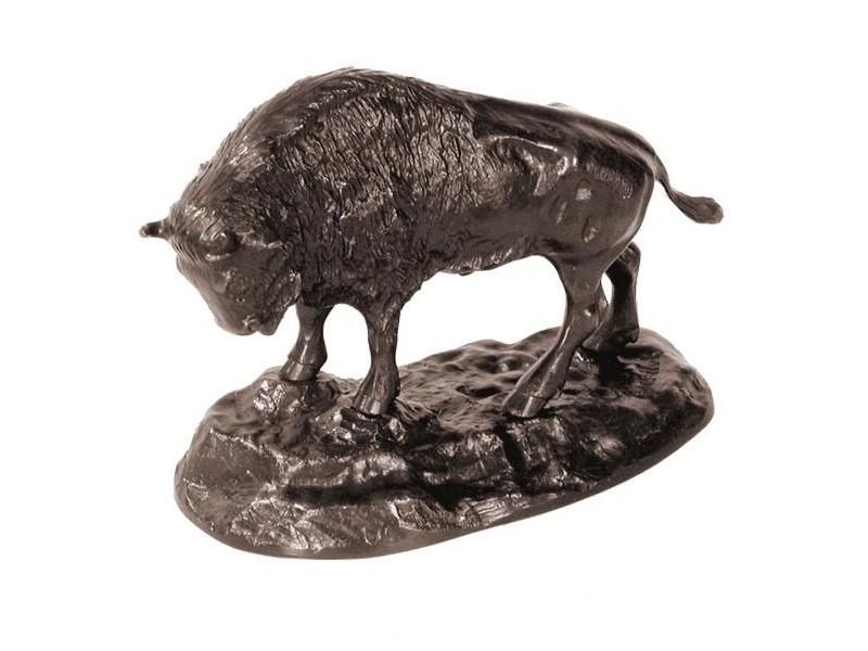Sculpture en bronze - Bison