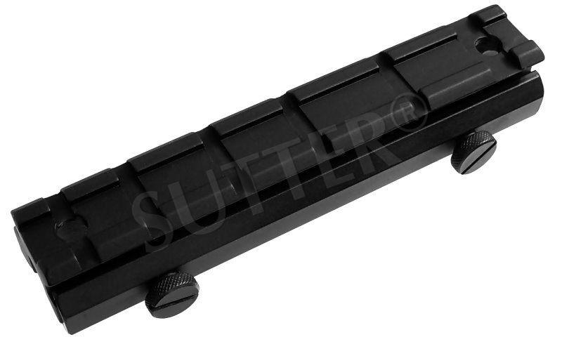 Adaptateur de hauteur de rails de montage l=130mm, 19-22mm sur 21mm