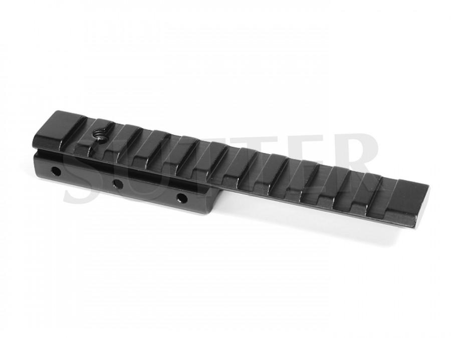 Adaptateur de hauteur coudé pour rails de montage l=125mm, 19-22mm sur 21mm