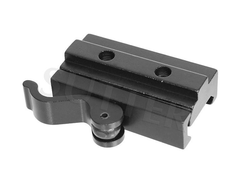 Montage et rail de serrage rapide de hauteur l=55mm pour rails de 19-22mm