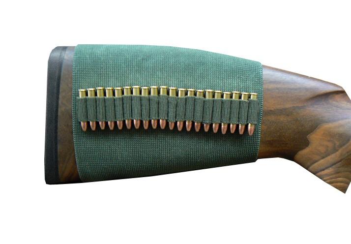 Étui de crosse en gomme élastique - Pour 20x cartouches de petit calibre cal. 22 Lfb.