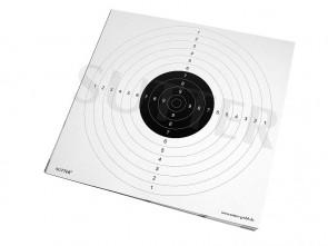 Pack de 20 cibles (blanche) avec des fentes d'insertion - 55x53cm
