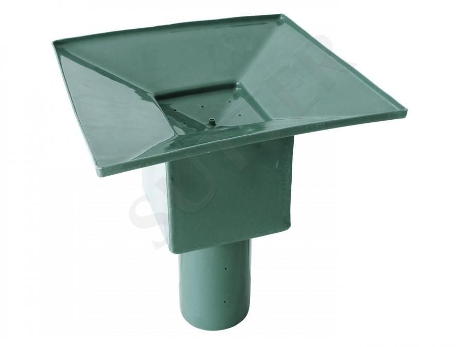 Salière en plastique avec entonnoir de récupération pour les abreuvoirs d'eau de pluie, etc.