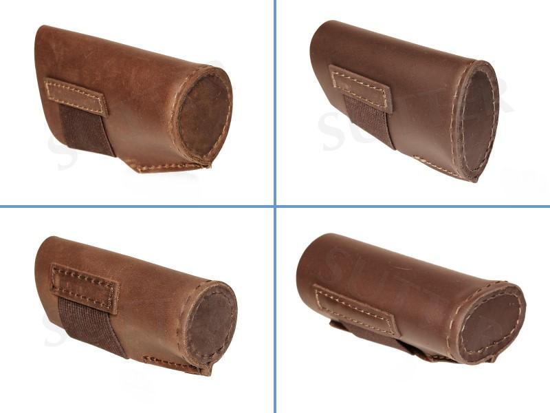 Protège-bouche et canon en cuir