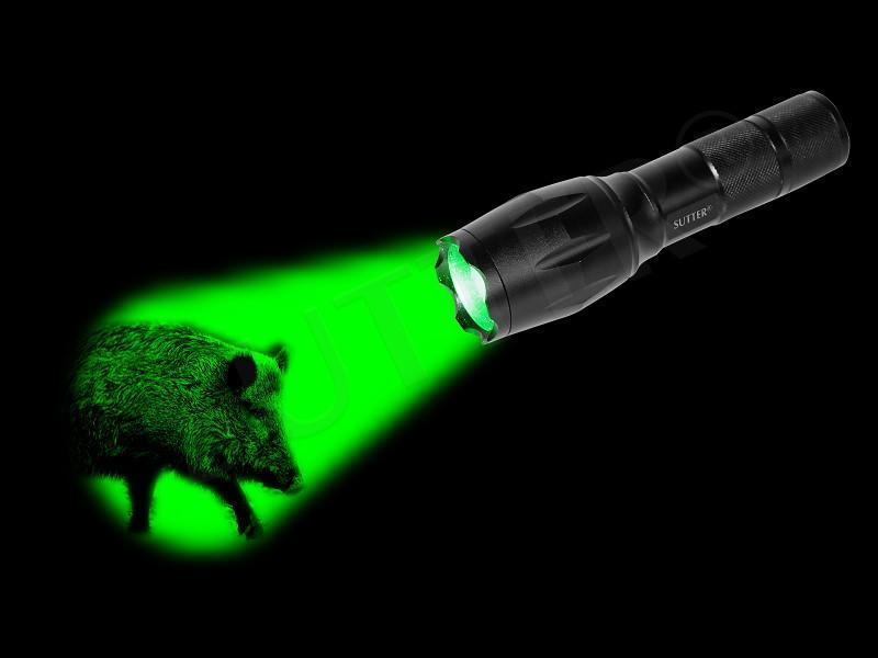 ZOOM Lampe de poche LED (vert) 2000LM