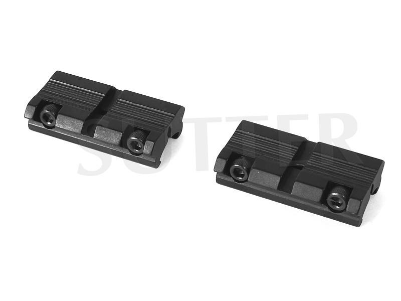 Rail adaptateur en deux éléments 11-13mm sur 21mm