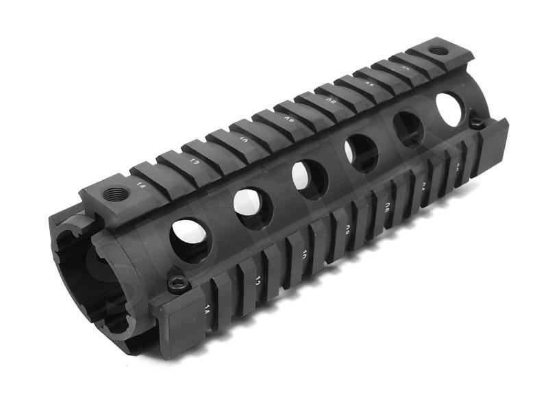 Quad Rail Handguard System 170mm - 4x Rail de 21mm