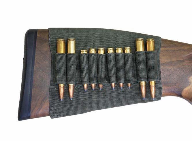 Étui de crosse en caoutchouc élastique - Pour 4x cartouches de carabine universel et 6x cartouches de carabine cal.222 et .223
